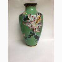 Напольная ваза для цветов, выполнена в технике клуазоне