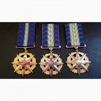 Медали. За образцовую службу. 1, 2, 3 степень. ВС. Украина. Полный комплект