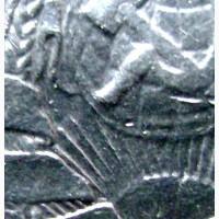 Редкая, серебряная монета один полтинник 1925 года