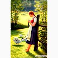 Редкая открытка. Гусь Лизель.1917 год