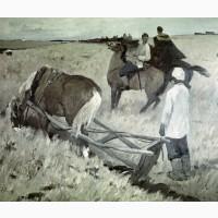 Картина (интарсия)1977 год по картине Б.Угарова Земля 1972 года