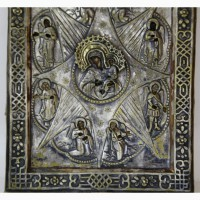 Продается Икона Божией Матери Неопалимая Купина в окладе. Конец XIX начало XX века