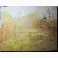 Картина Золотая Осень, холст, масло, НХ