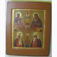 Икона четырехчастник, казачья, 19 век