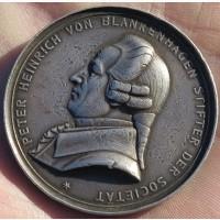 Памятная серебряная медаль Питер Бланкенхаген, Германия, 19 век