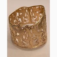 Золотой женский браслет по египетским мотивам, ручная работа