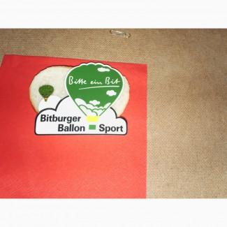 Значок воздушного шара, принадлежащего немецкой пивной компании Bitburger