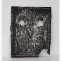 Продается! Серебряный оклад иконы Епископ Инноке нтий Иркутский и Феодор Стратилат