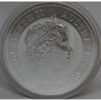 Продается Серебряная монета Австралии 15 $ Год Петуха 2005 года. 500 гр 999 проба