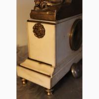 Часы антикварные бронза мрамор 19-й век