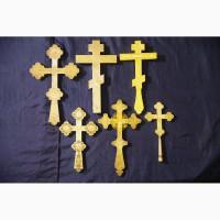 Коллекция из шести старинных напрестольных крестов. Серебро 84 пробы. Россия, XIX век