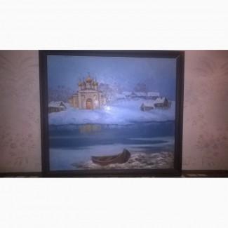 Продам картину Оттепель на Рождество Апатиты 96 Николай Владимирович Владимиров