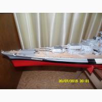 Продам модель корабля Линкор Бисмарк