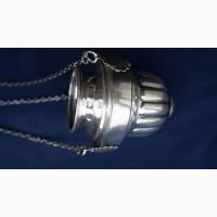 Старинная подвесная серебряная лампада в стиле Ампир. Мастерская «И.Т.». СПб, 1832г