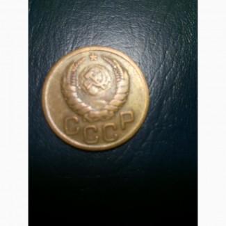 Монета СССР 3 коп. 1940 года