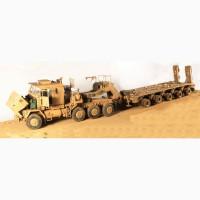 Продам собранную модель тягача Oshkosh + Бульдозер D9R 1/35