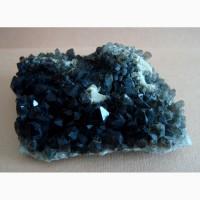 Морион-дымчатый кварц, друза кристаллов