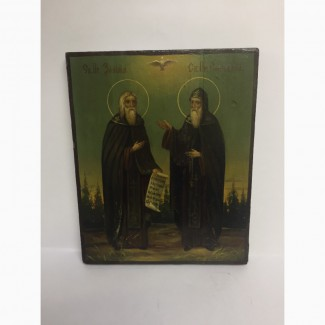 Икона святых Зосимы и Савватия Соловецких