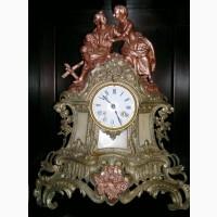 Часы каминные, бронза, Франция, 19 век