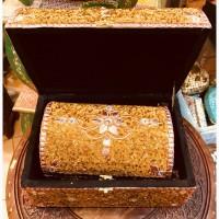 Шкатулки, набор из 3-х шт. Дерево, инкрустация камнями и бисером