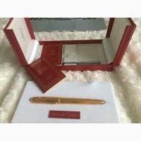 Ручка позолоченная с элементами из золота трех видов. сапфировая вставка. 1993 г