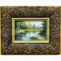 Продается Картина-миниатюра Лесное озеро. Крюков 1994 год
