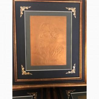 Тисненая гравюра И.С Тургенев Издание т-ва Киббель, С.Петербург 1900 год
