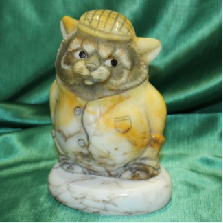 Кот Чуй бизнес сувенир, авторская скульптура, оригинальный подарок