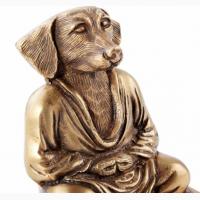 Статуэтка Собака золотая