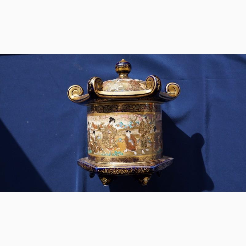 Фото 6. Старинная шкатулка. Фарфор Сацума. Япония, кон. XIX века