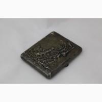 Продается Серебряный портсигар Бог Египта Птах + Самородок. Москва 1908-1917 гг