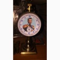 Часы настольные с циферблатом с Николаем 2 рабочее состояние, точный ход