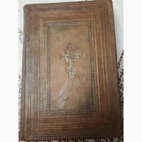 Церковная книга Октоих, кожаный переплет, отличная сохранность, 19 век
