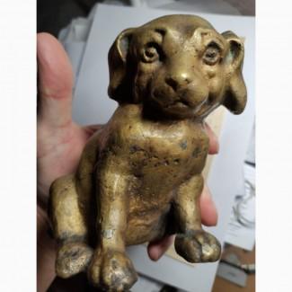 Бронзовая статуэтка Собачка, царская Россия