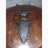 Жук Скарабей подставка для снятия обуви Чугун Ручная работа